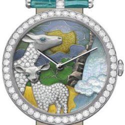 Ремонт часов Van Cleef & Arpels Antelope Decor Extraordinary Dials Les Cadrans Extraordinaires African landscape в мастерской на Неглинной
