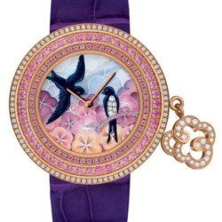 Ремонт часов Van Cleef & Arpels Charms Extraordinaire Hirondelles Extraordinary Dials Pink Gold в мастерской на Неглинной
