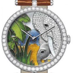 Ремонт часов Van Cleef & Arpels Elephant Decor Extraordinary Dials Les Cadrans Extraordinaires African landscape в мастерской на Неглинной