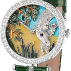 Ремонт часов Van Cleef & Arpels Giraffe Decor Extraordinary Dials Les Cadrans Extraordinaires African landscape в мастерской на Неглинной