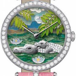 Ремонт часов Van Cleef & Arpels Hippopotamus Decor Extraordinary Dials Les Cadrans Extraordinaires African landscape в мастерской на Неглинной