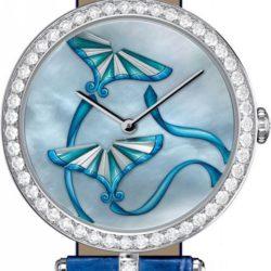 Ремонт часов Van Cleef & Arpels Kite Blue MOP Blue Croco Extraordinary Dials Les Cadrans Extraordinaires в мастерской на Неглинной
