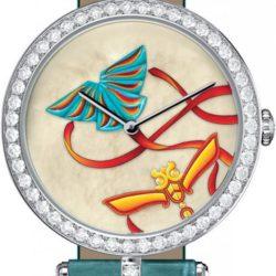 Ремонт часов Van Cleef & Arpels Kite White MOP Green Croco Extraordinary Dials Les Cadrans Extraordinaires в мастерской на Неглинной