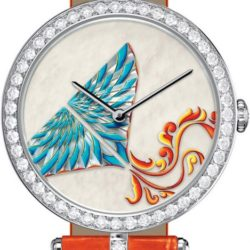 Ремонт часов Van Cleef & Arpels Kite White MOP Orange Croco Extraordinary Dials Les Cadrans Extraordinaires в мастерской на Неглинной
