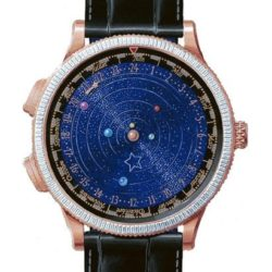 Ремонт часов Van Cleef & Arpels Midnight Planetarium Baguette Poetic Complications Pink Gold в мастерской на Неглинной