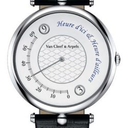 Ремонт часов Van Cleef & Arpels Pierre Arpels Heure D'ici & Heure D'ailleurs Mens Watches White Gold в мастерской на Неглинной